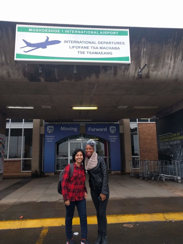 Louise welcomed to Lesotho by Palesa