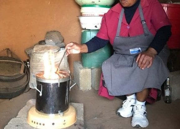Energy Efficient Stove in use