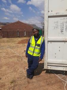 Motebang on work site