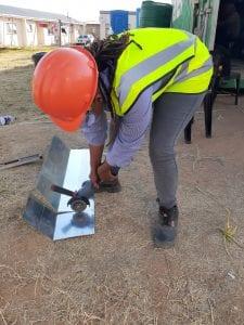 Malingaka working on construction site